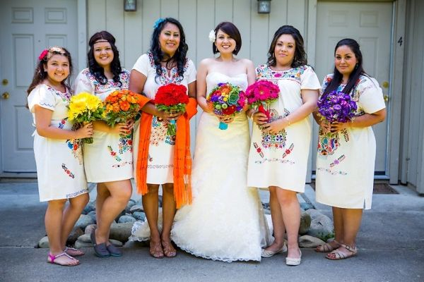 I love this! Love their dresses too.   Cinco de Mayo Wedding