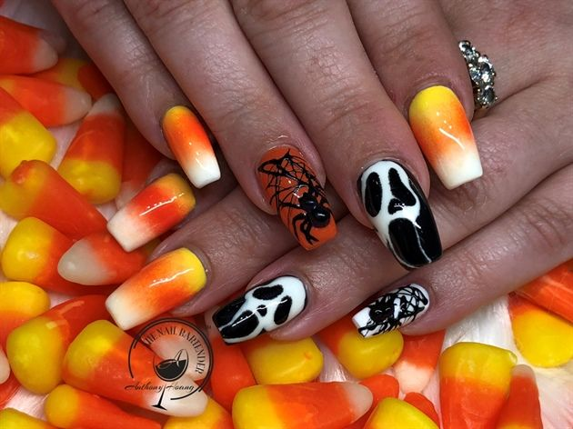 Nail Art From The Nails Magazine Nail Art Gallery Gel Polish Acrylic Ombre Nail Art Gel Design Hall Candy Corn Nails Halloween Nail Art Ombre Nail Designs