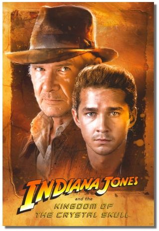 Indiana Jones and the Crystal Skull Harrison Ford, Cate Blanchett, Shia LaBeouf (2008). Just thrilled because they made another Indy film! Shia LeBeouf was perfect as Indy's son and it was awesome that Indy and Marion got together. Hint: Unless they're an immortal superhero, everyone gets older...even Indiana Jones. I still wanna see him kickin' ass!