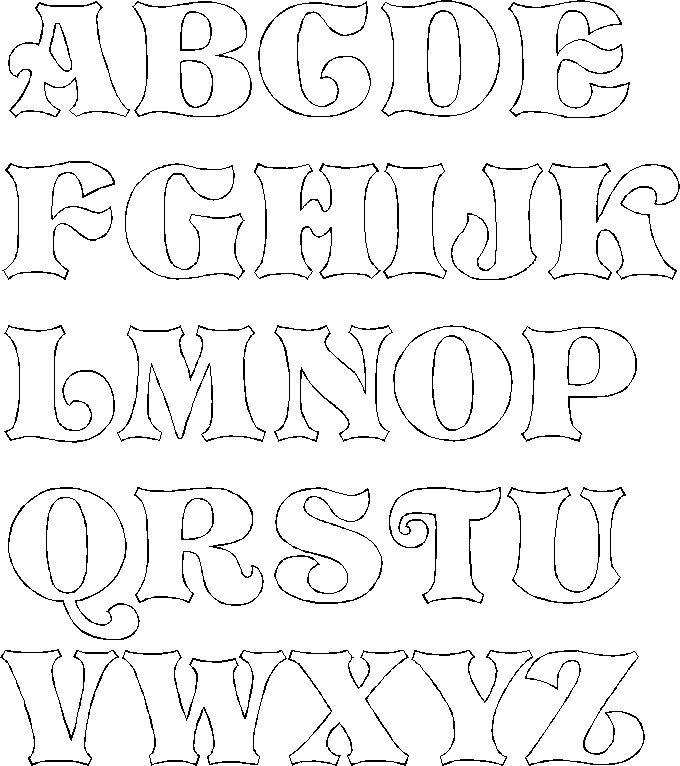 Die besten 17 ideen zu alphabet templates auf pinterest for Fancy alphabet letter templates