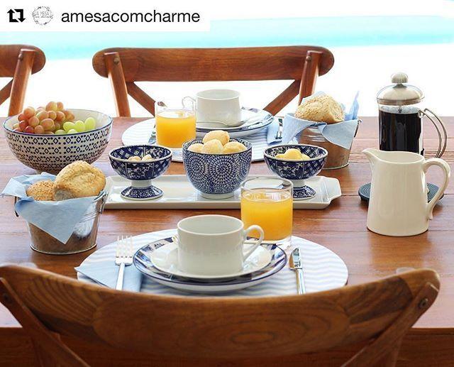💙 A mesa de café da manhã da Mah | WEBSTA - Instagram Analytics