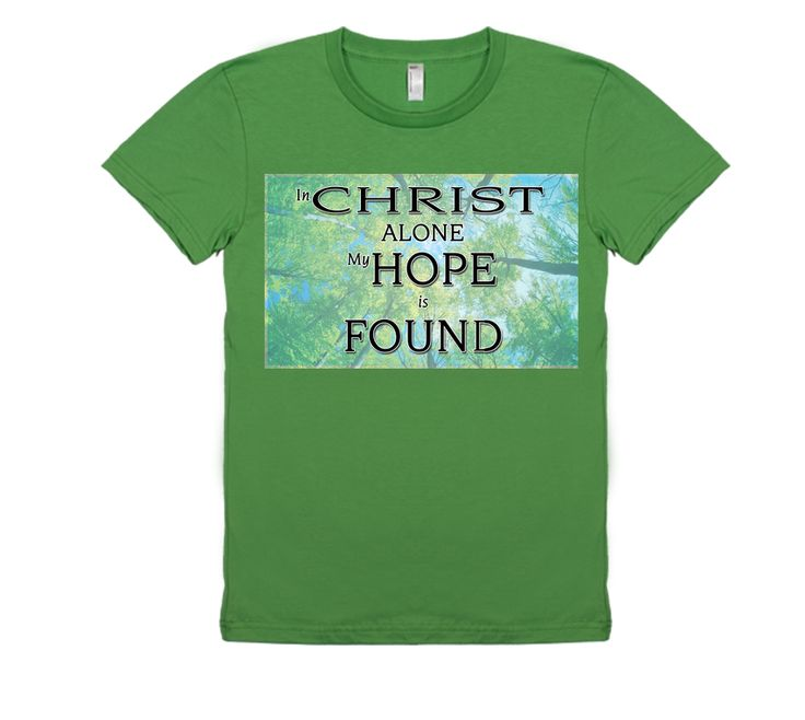 Mens In Christ Alone Christian T Shirt, that is 100% original and designed by Yittiby. Please support Yittiby with it's online christian outreach by purchasing a quality T today!
