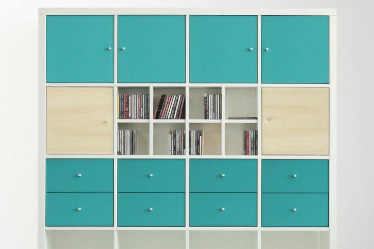 kallax regal mit cd eins tzen von new swedish design. Black Bedroom Furniture Sets. Home Design Ideas