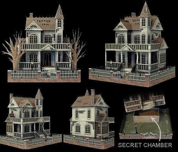 39 ghost house 39 paper model ravensblight crafts for Pinterest haunted house
