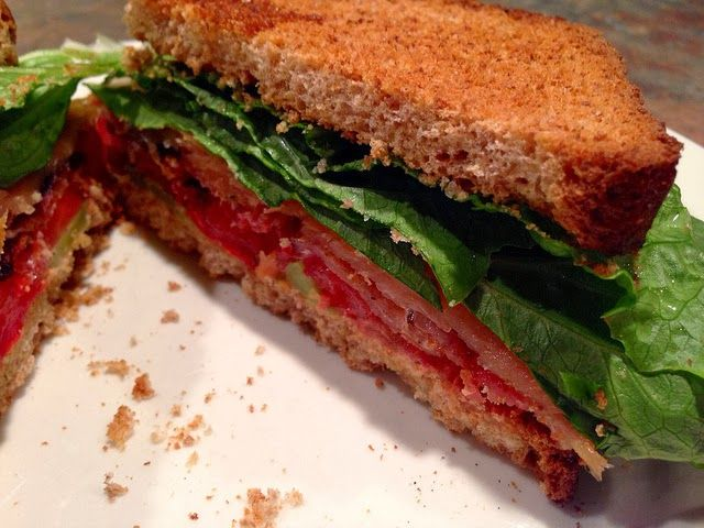 """BLT """"SS"""" - Bacon, Lettuce, Tomato Sandwich with Smoked Salmon See h..."""