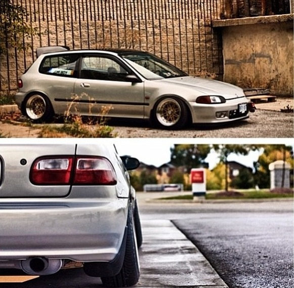 #Clean #EG #Hatch #Stanced #HellaFlush #Honda #Civic #Jdm
