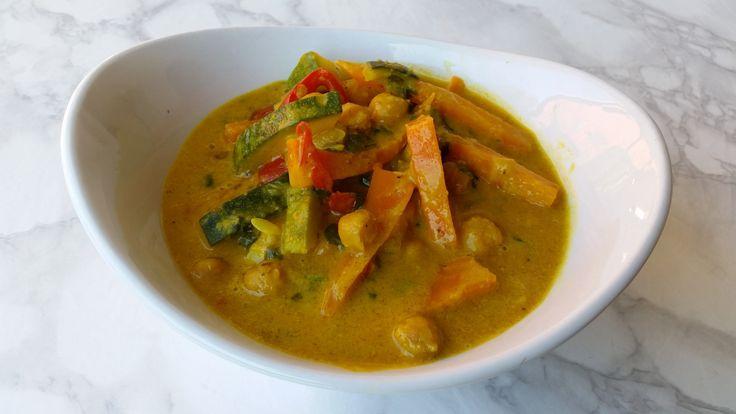 Curry de cúrcuma y mantequilla de maní