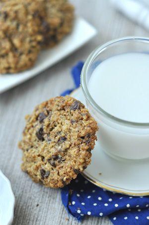 Csokis-diós zabpelyhes keksz liszt nélkül