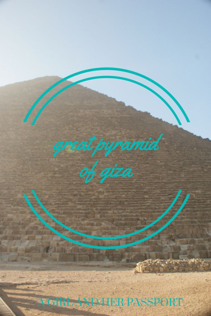 Visiting the Great Pyramid of Giza in Egypt is not something I am likely to forget anytime soon. To me it is still one of the great wonders of the world!