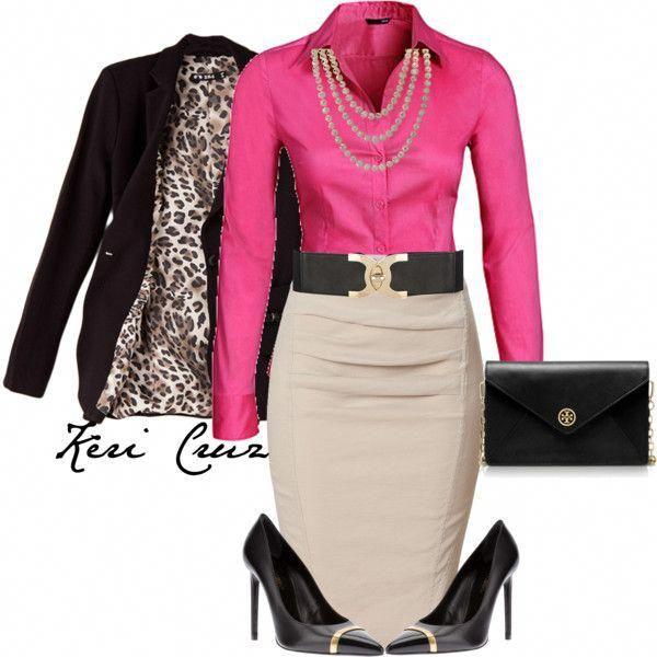 Stylisches Büro-Outfit, kreiert von Keri-Cruz auf Polyvore # Damenmodejacken
