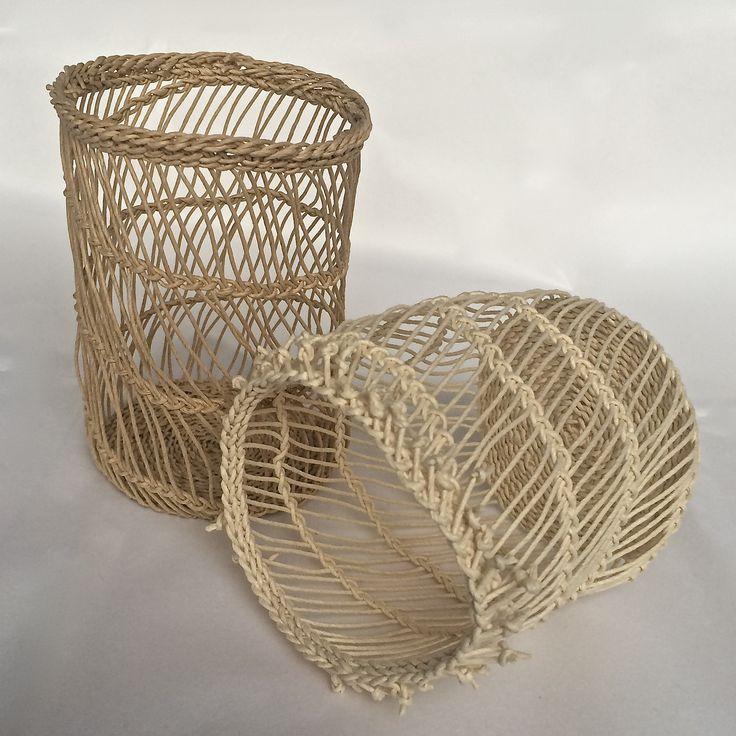 Garlic baskets, paper, 2015
