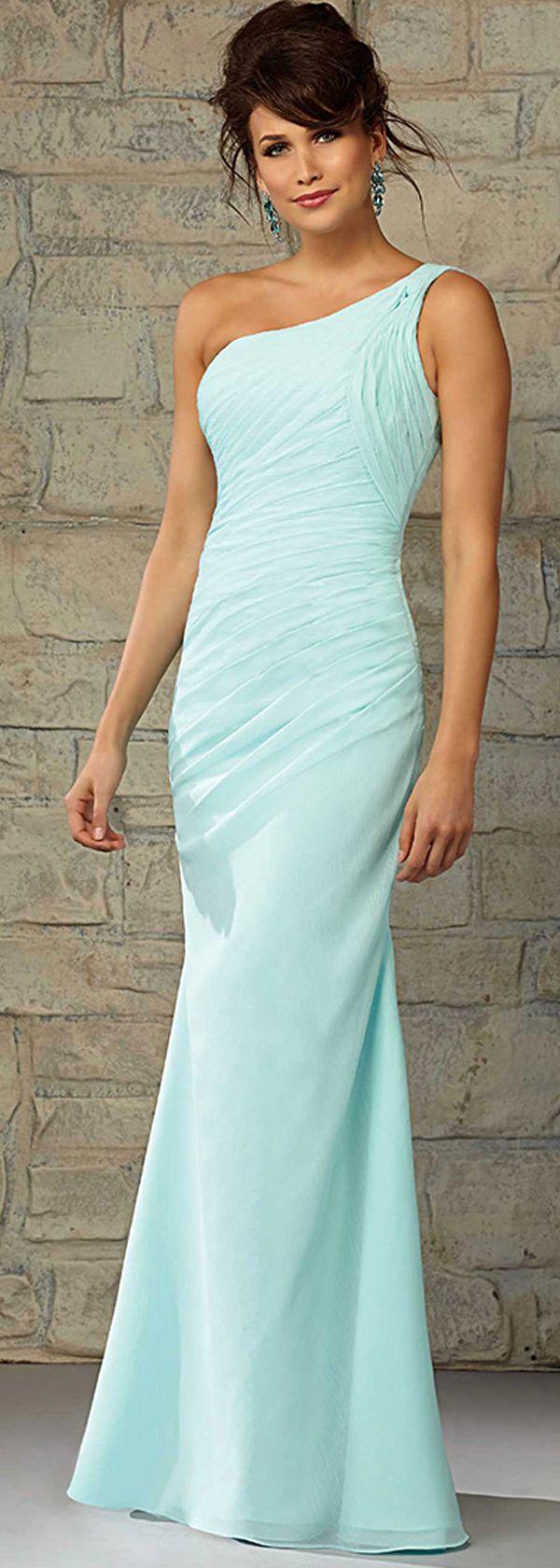 48 best wedding dresses images on pinterest bridal dresses charming chiffon one shoulder neckline floor length sheath bridesmaid dress ombrellifo Choice Image