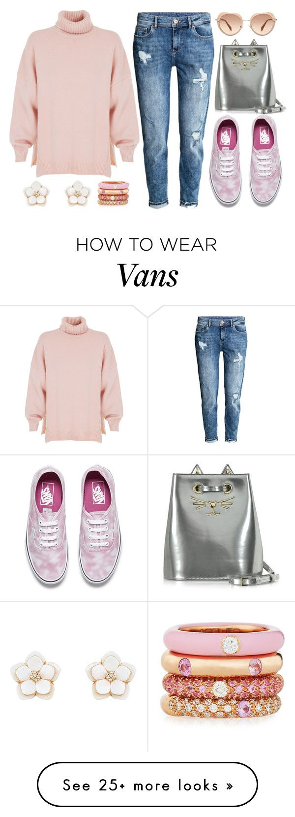 """Cozy Cashmere Sweaters"" by joslynaurora on Polyvore featuring TIBI, H&M, Vans, Charlotte Olympia, Accessorize, Adolfo Courrier, Miu Miu, Sweater, sunglasses and sneakers"