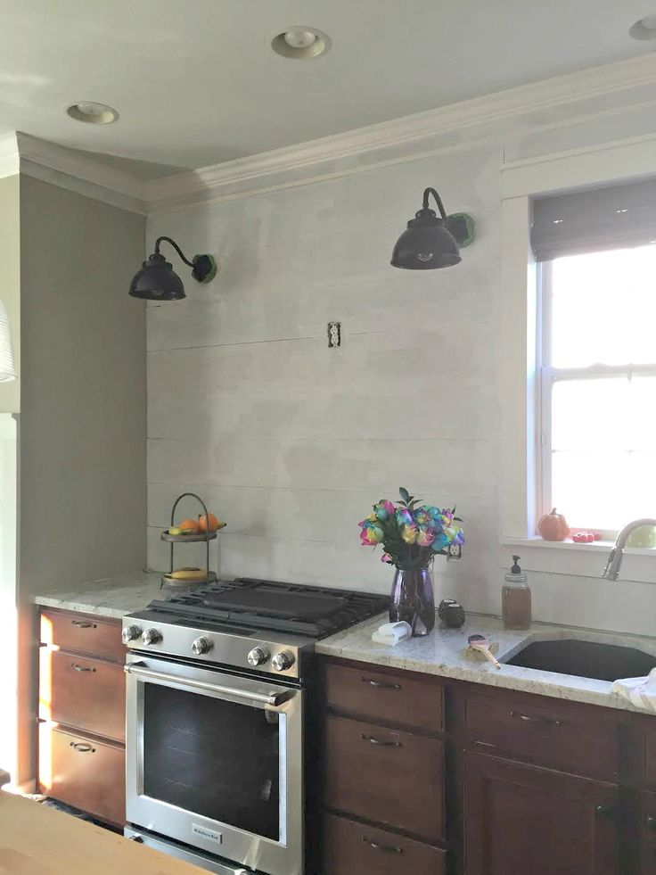 How to install a hardiplank (cement fiber board) planked backsplash wall in the kitchen.