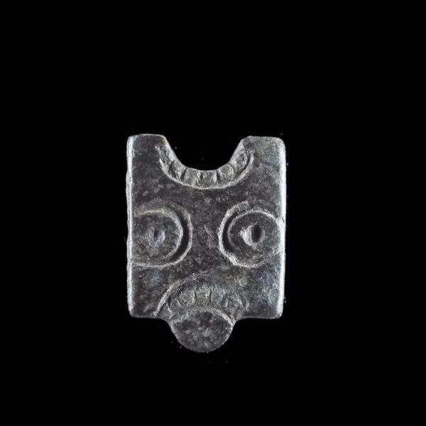 Viking Belt Mount With Facial Features, 10th- 12th Century AD