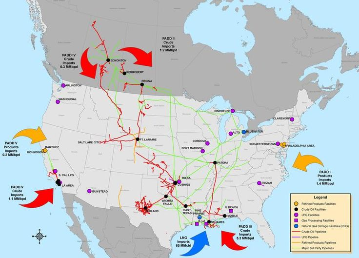 A Map With All Pipelines In The Us Globalinterco - Us navy map mahone bay ns