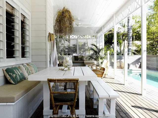 louvred windows and relaxed outdoor living