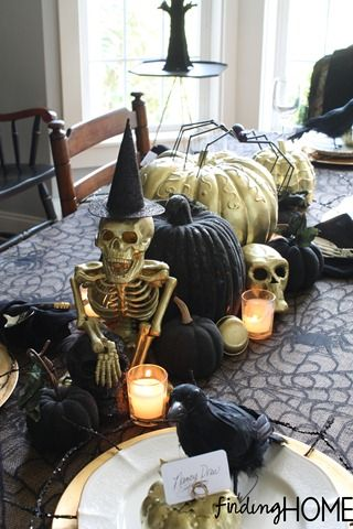 elegantly spooky halloween tablescape a sense of humor spooky halloween craftshalloween table decorationshalloween