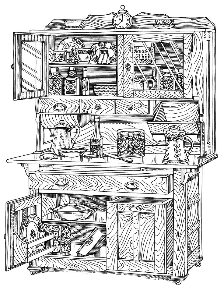 The old cabinet