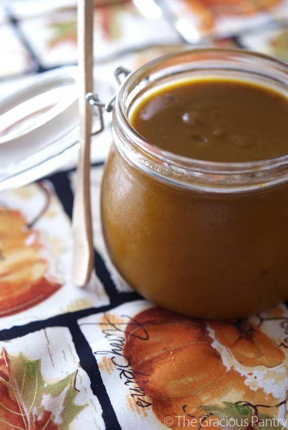 Clean Eating Pumpkin Butter by thegraciouspantry #Pumpkin_Butter
