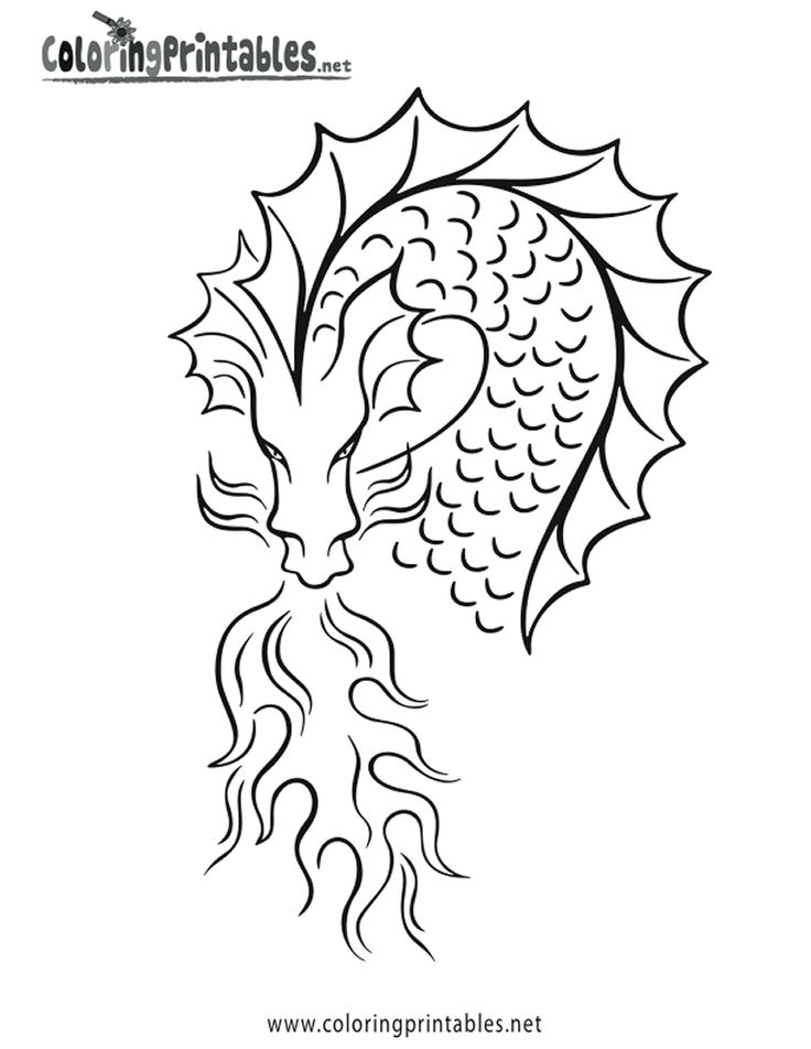 44 best Dragon images on Pinterest | Chinese dragon, Coloring ...