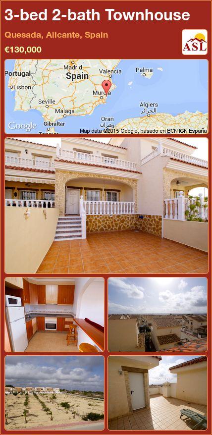 3-bed 2-bath Townhouse in Quesada, Alicante, Spain ►€130,000 #PropertyForSaleInSpain