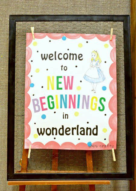She's crafty: Alice in Wonderland tea party for New Beginnings