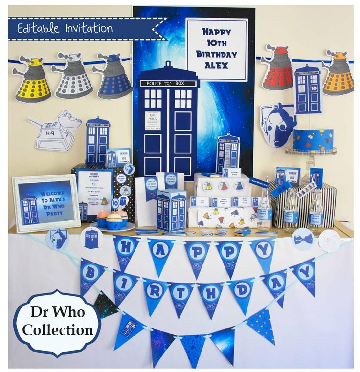 Dr Who Party Printable Mega Set  INSTANT by CreativeLittleStars, $35.00