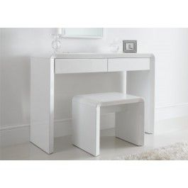 Sleep Sanctuary // Ice High Gloss Dressing Table Only - White - 229.00 pounds