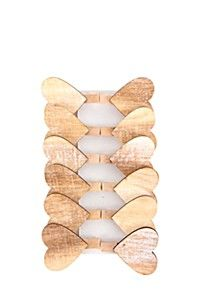 12 PACK WOODEN MINI HEART PEGS