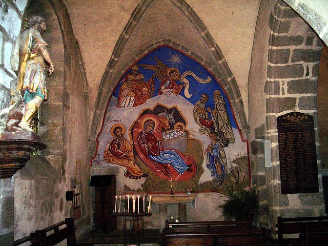 Frescoes at the Church in Auzances