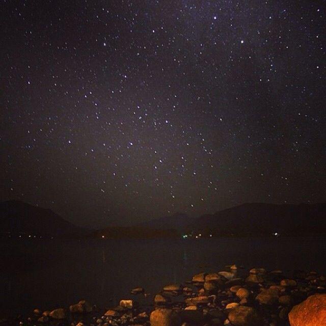 Panguipulli lake at night