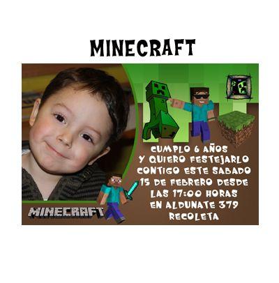 invitaciòn minecraft
