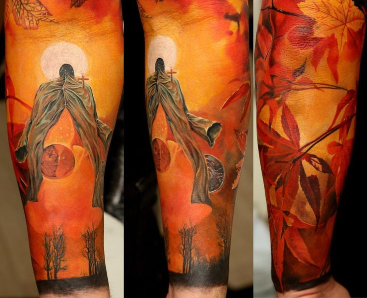 Sleeve tattoo | Dmitriy Samohin: