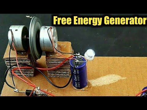 How To Make Free Energy Generator Using DC Motor At Home