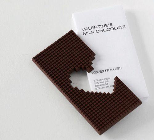 Valentine's Milk Chocolate Package Design