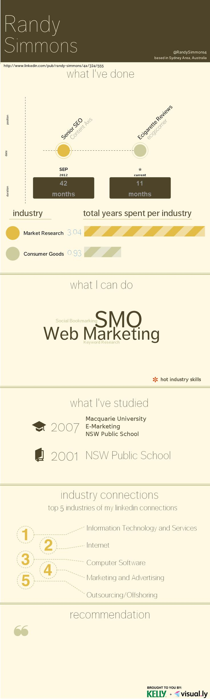 My resume in inforgraphic style..