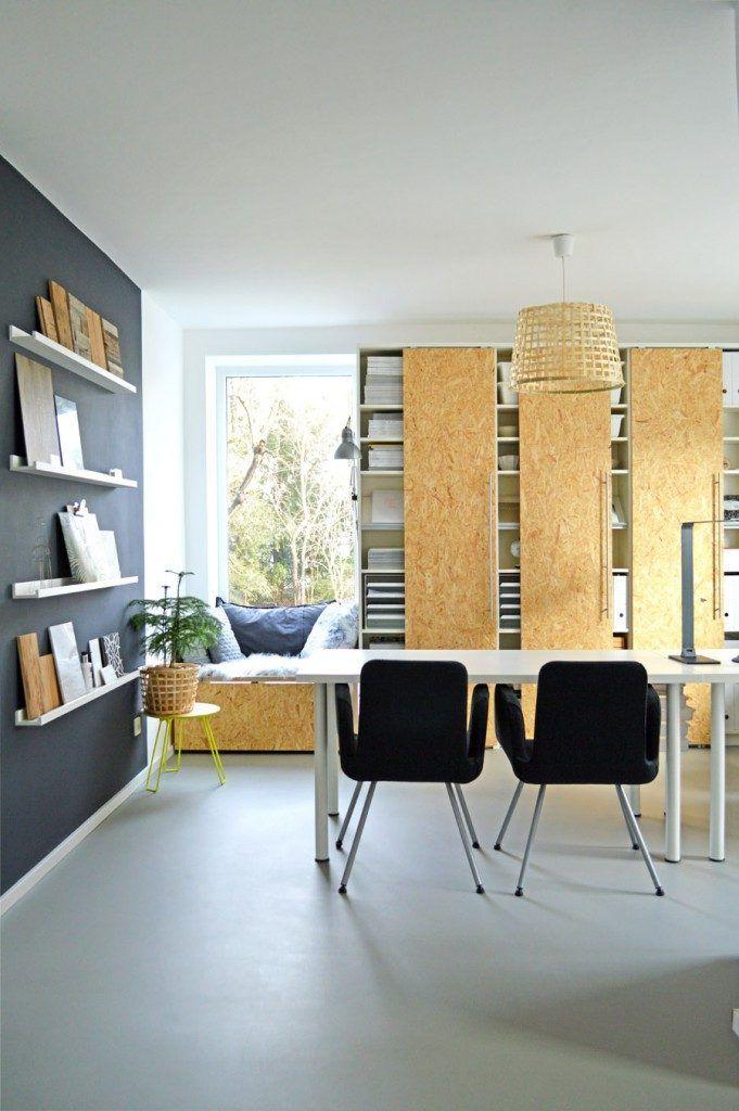 IKEA Billy boekenkast hack met OSB schuifdeuren
