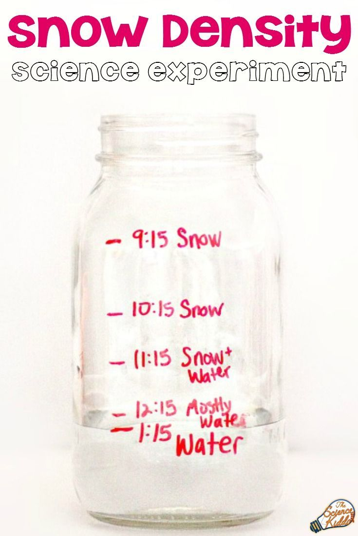 A snow density science experiment for kids is a fun and easy winter STEM activity to discover the density of snow. Simply gather snow in a jar, watch it melt, and record the results!