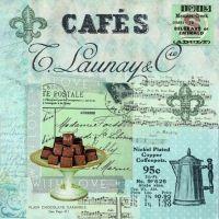 Lunch napkins Café Collage