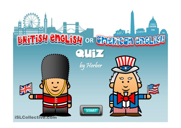 ESL worksheet about AMERICAN/BRITISH ENGLISH QUIZ. ESL powerpoint worksheet of the day on April 13, 2015. Author: Herber. This Powerpoint presentation is a multiple choice exercise on British English and American English words. Click on the right cartoon.