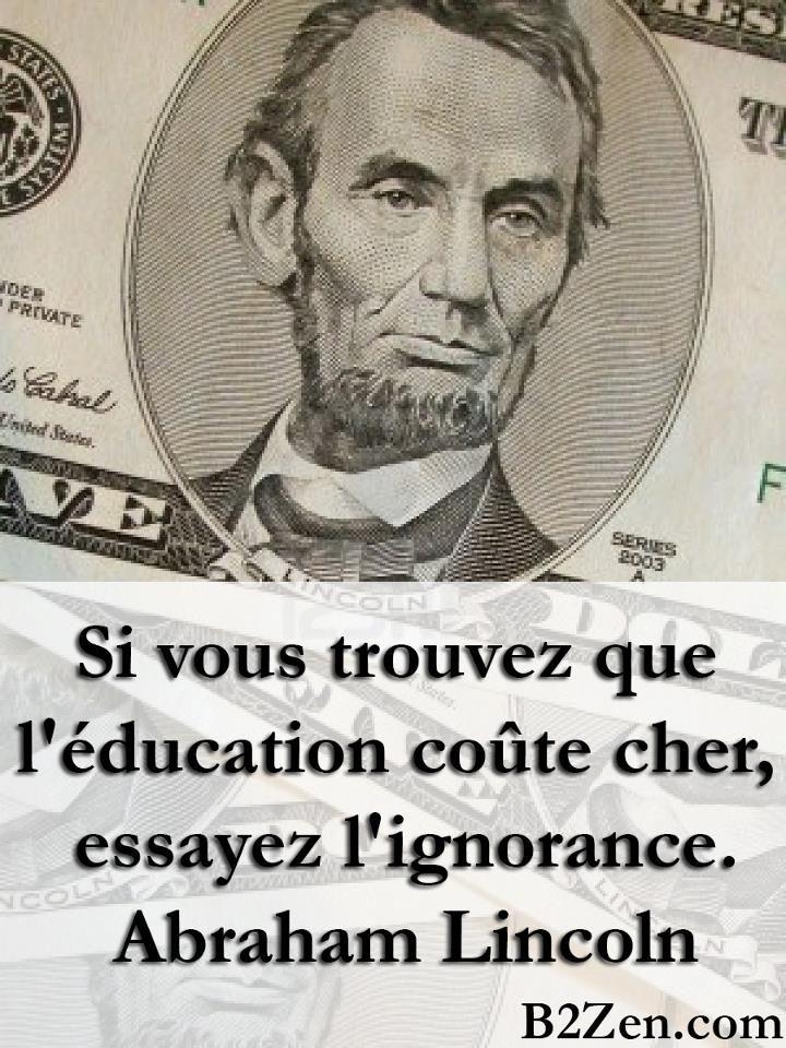 si lducation coute cher essayez lignorance