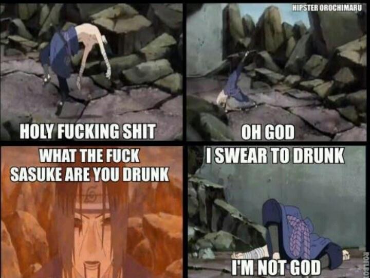 He's drunk...