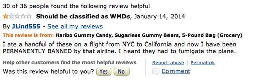 Sugarless Haribo Gummy Bear Reviews Tell Tales of Toilet Terror - Cheezburger