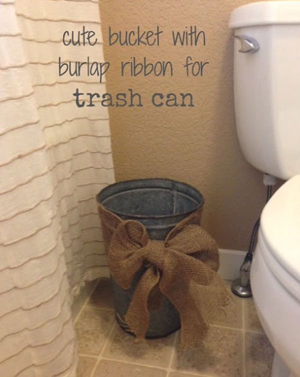 Best Burlap Bathroom Decor Ideas On Pinterest Burlap - Bathroom garbage can with lid for bathroom decor ideas