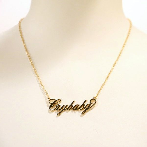 "Melanie Martinez ""Crybaby"" Name Plate Necklace from the official Melanie Martinez merchandise store"