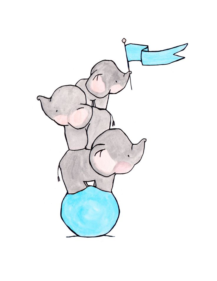Elephants Three 8x10 Archival Print by ohhellodear on Etsy