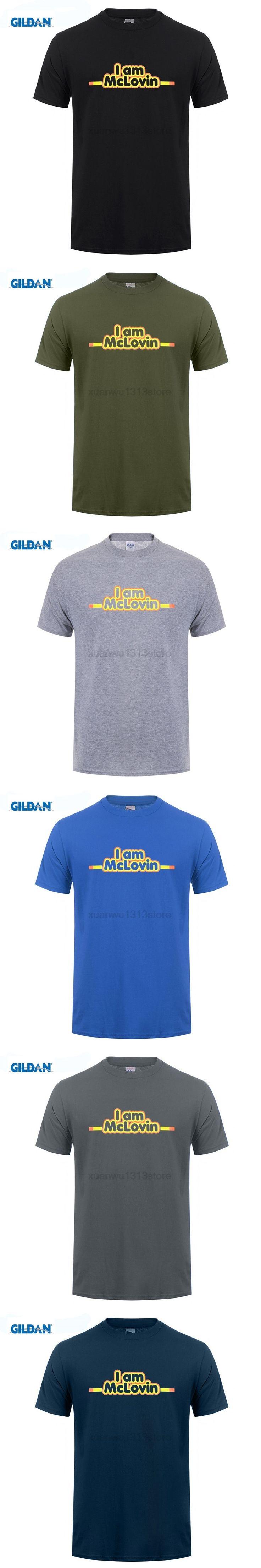 GILDAN I AM MCLOVIN HUMOR NEW T-SHIRT S M L XL 2XL SUPERBAD FOGELL JONAH HILL KICK-ASS Design Style  Short Sleeve T Shirt