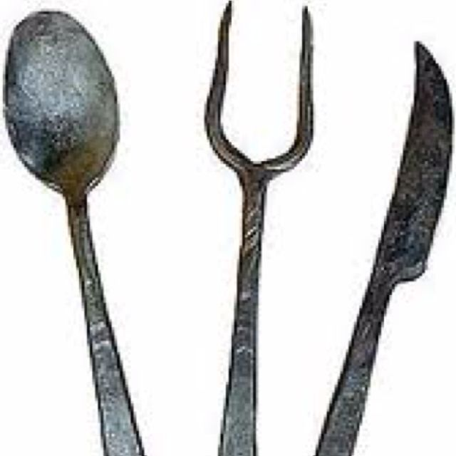 Medieval cooking utensils medieval life feast gear pinterest cooking medieval and table - Medieval silverware ...