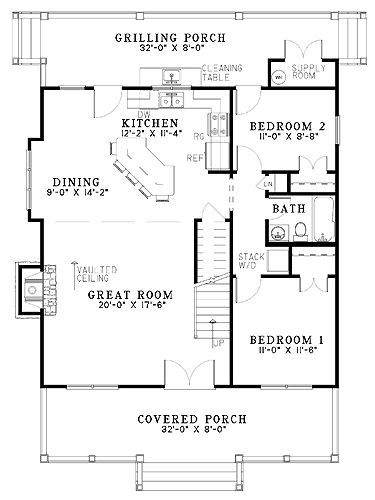 Floor Plan - Flip the plan, so that bedrooms are on the left and kitchen/living area are on the right.